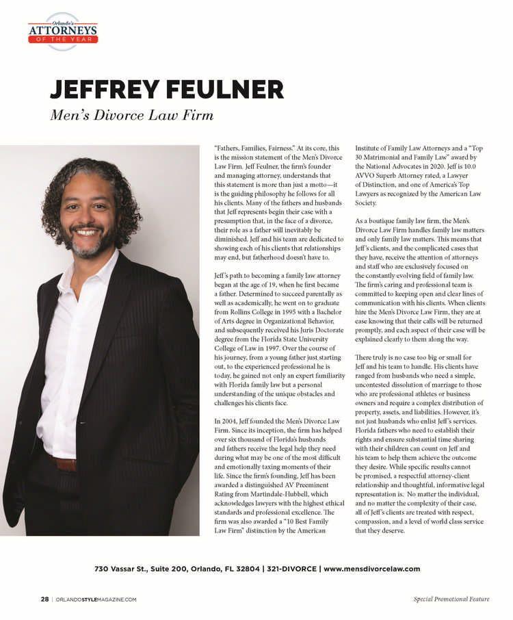 Orlando Style magazine article about Jeffrey Fuelner